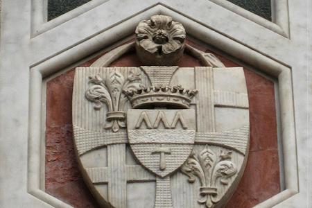 Изображение герба Демидовых на усадьбе