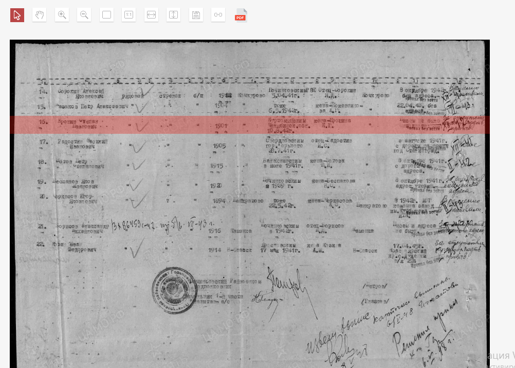 сканы военных документов